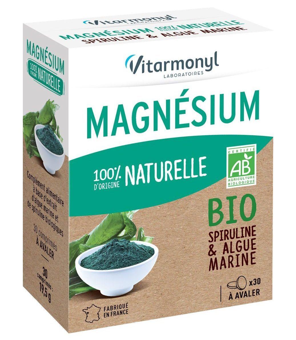 Magnésium 100% d'origine naturelle Bio