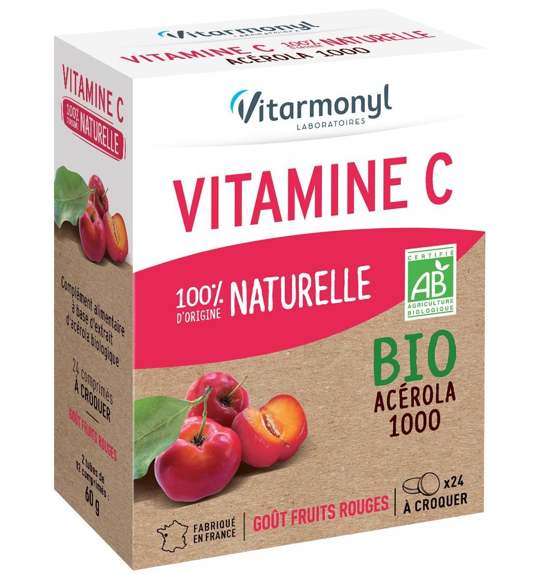 Vitamine C 100% d'origine naturelle BIO
