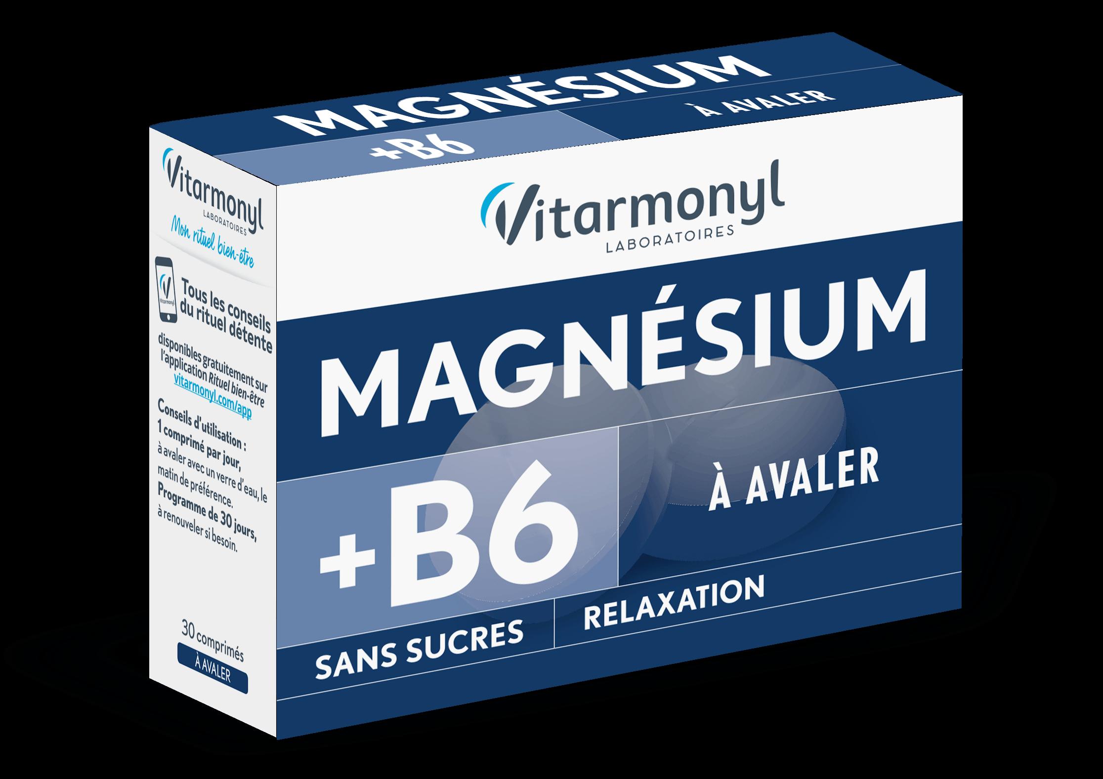 Image Magnésium + B6 – A avaler