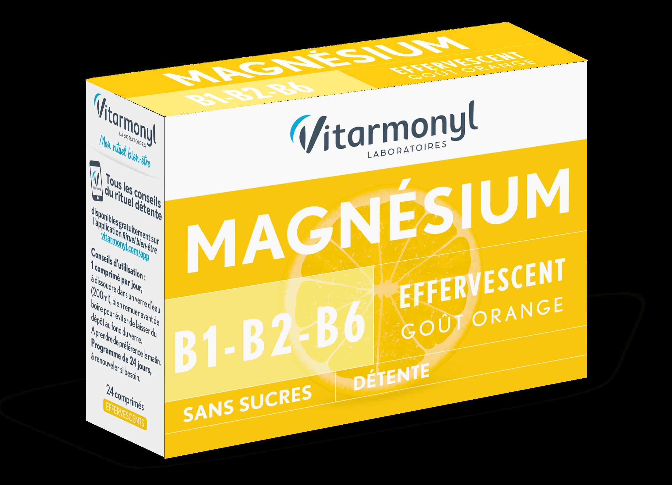 Magnésium + B1, B2, B6